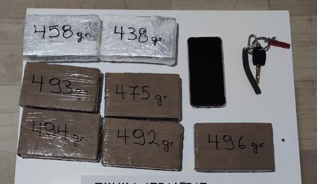 Σύλληψη 38χρονου στην Κορινθία με 3 κιλά ηρωίνη
