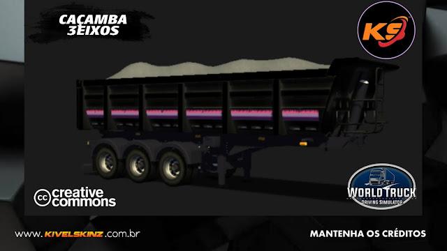 CAÇAMBA 3EIXOS - LEGEND V8 BLACK