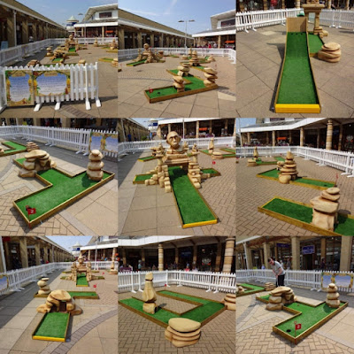 Crazy Golf at Lakeside Shopping Village in Doncaster, May 2016