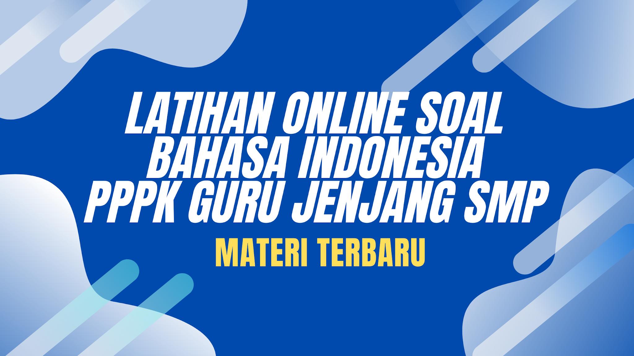 gambar soal pppk online bahasa indonesia