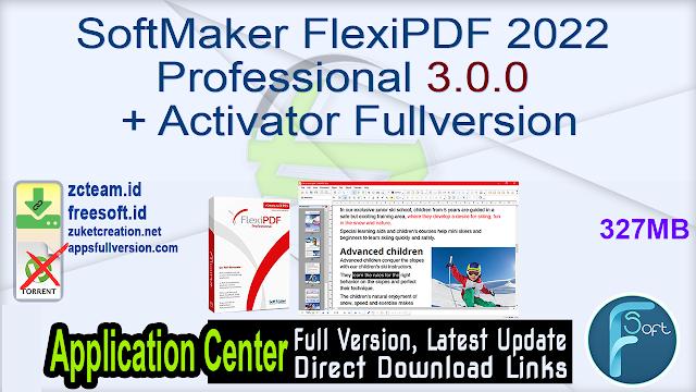 SoftMaker FlexiPDF 2022 Professional 3.0.0 + Activator Fullversion