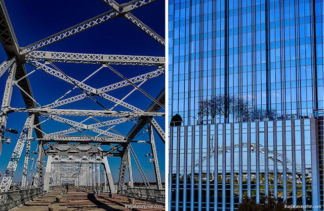 ponte de pedestres John Seigentahler, em Nashville, Tenessi