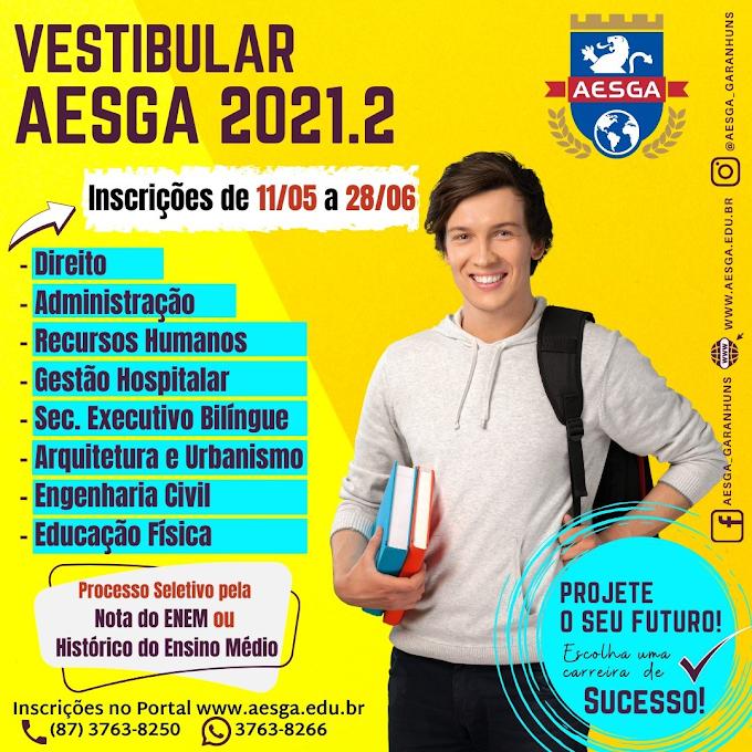 AESGA abre inscrição de vestibular