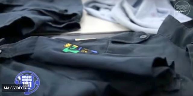 Polícia divulga fardamentos que teriam sido utilizados pelos assassinos do Capitão Oliveira