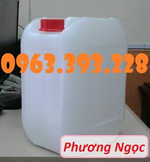 Can nhựa vuông 10 Lít, can nhựa 4 núm nhựa HDPE, can nhựa đựng hóa chất 5e65095ad48434da6d95