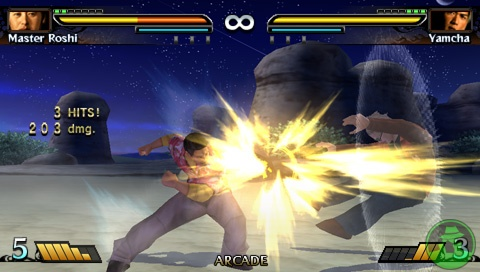 Screenshoot Dragonball Evolution ISO For PSP Android