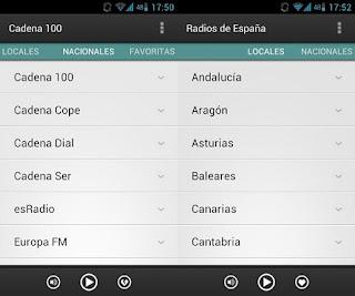 Aplicación para escuchar la radio en el móvil