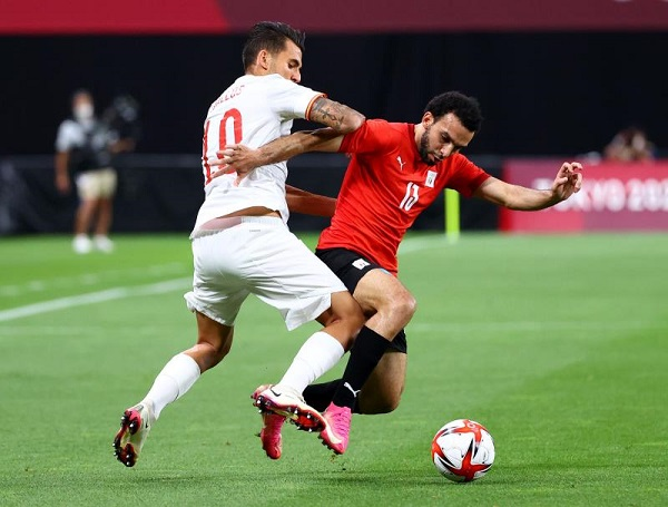 ملخص مبارة مصر واسبانيا فى اولمبيات طوكيو 2020 - الخميس