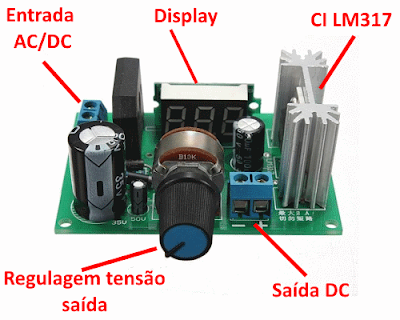 Módulo LM317 - Detalhes