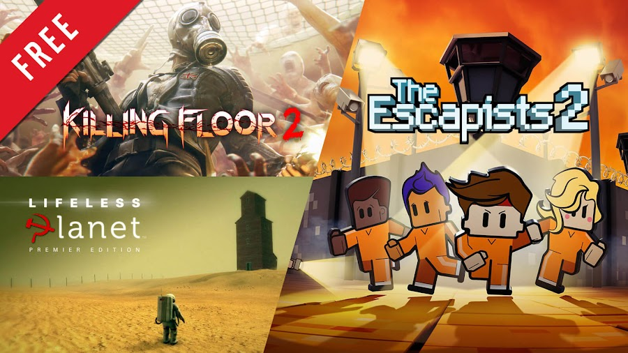 killing floor 2 lifeless planet escapists 2 free pc game epic games store tripwire interactive stage 2 studios serenity forge mouldy toof studios team 17 co-op zombie shooter puzzle platformer strategy role-playing game
