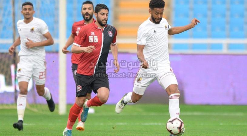 الرائد يتغلب على فريق الوحدة في مباراة صعبه من الجولة التاسعه بثلاث اهداف لهدفين في الدوري السعودي