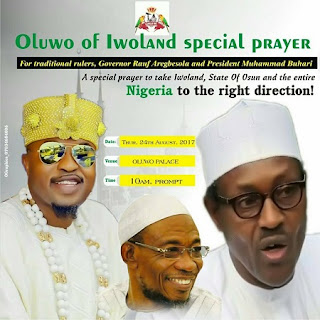 Oluwo Organises Prayers For Buhari