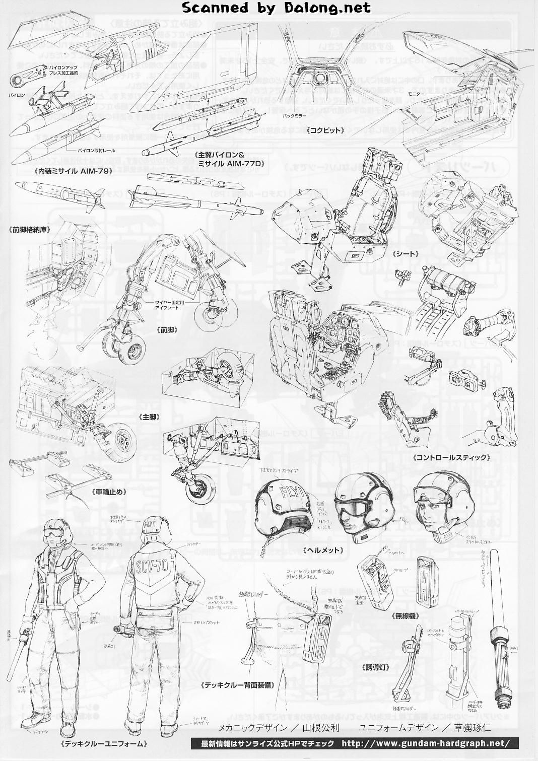 FULL Scans Manual 1/35 U.C.HardGraph Core Fighter