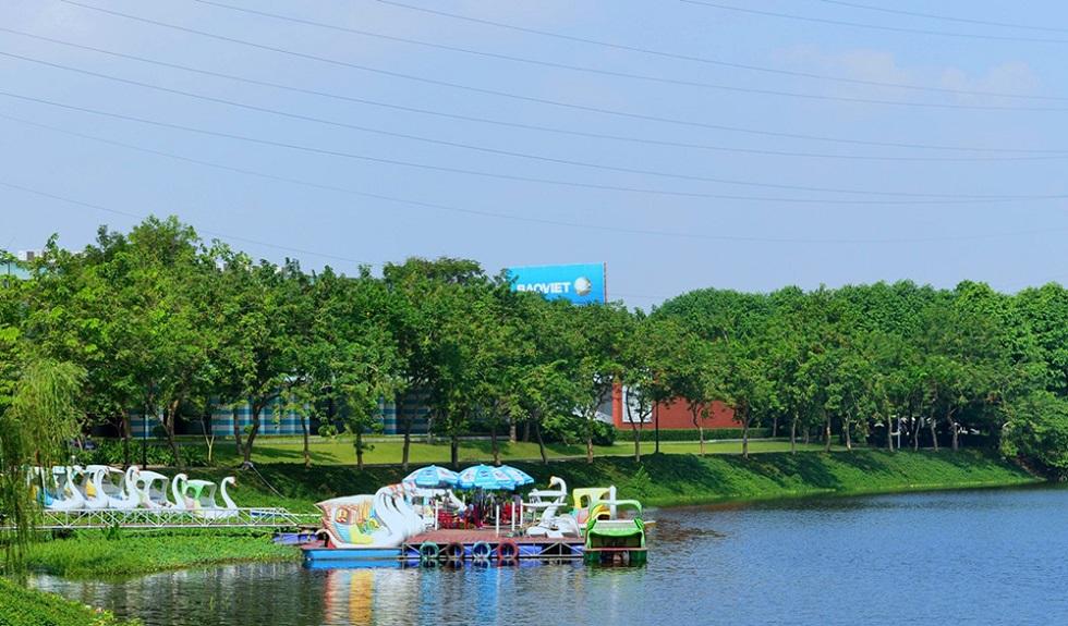 Cồn viên Yên Sở sở hữu hồ điều hòa diện tích hơn 200 hecta