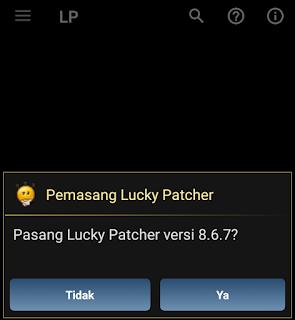 pasang lucky patcher versi terbaru