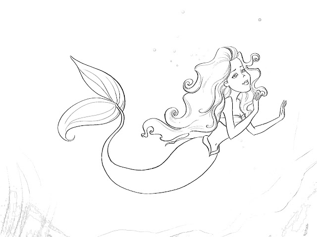 The Little Mermaid coloring pages on Coloring-Book.info   480x640