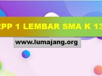 Contoh RPP 1 Lembar SMA / SMK MA K13