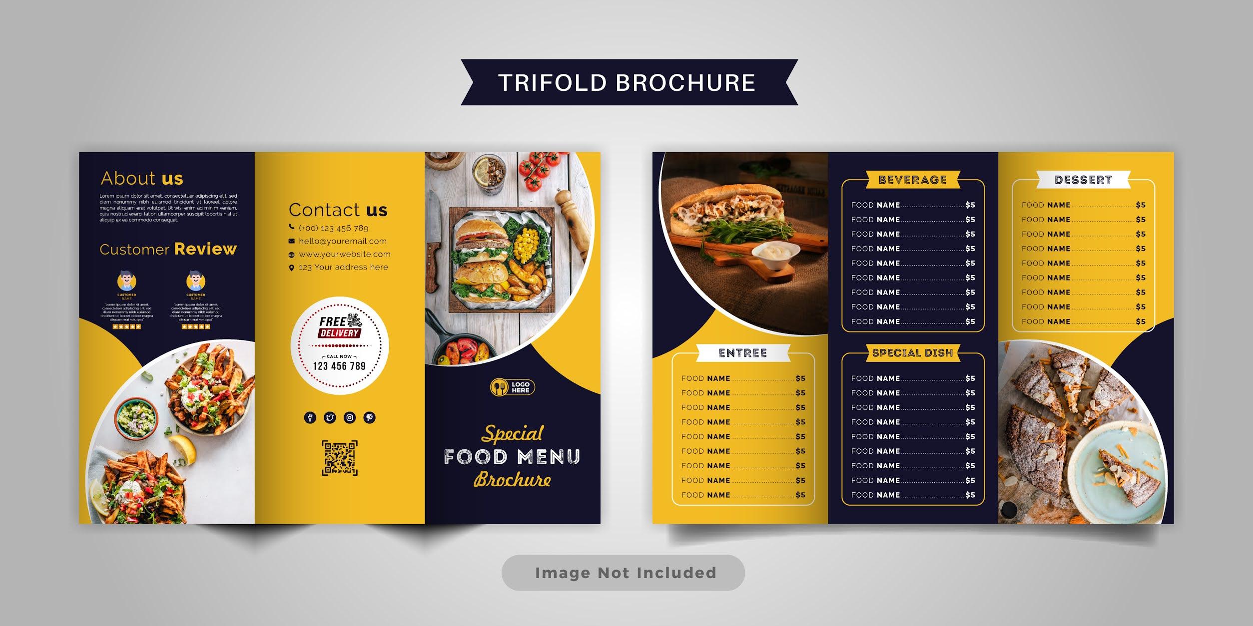 تحميل بروشور طعام مجانا 7 تصميمات احترافية مجموعة 2 بصيغة فيكتور ويمكنك تحويلها فيكتور