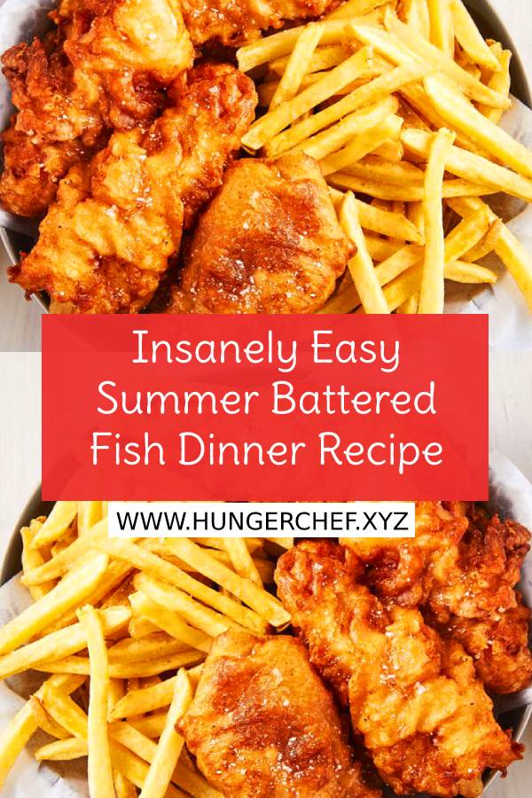 Insanely Easy Summer Battered Fish Dinner Recipe - There's nothing super crazy about this recipe, but when you do it right, it's absolutely perfect. #easysummerrecipe #summerdinner #summerrecipe #easydinnerrecipe #easyseafoodrecipe #easydinner #easyfishrecipe #dinnerrecipe #dish #maindish #recipeoftheday #bestdinnerrecipe #summerfood