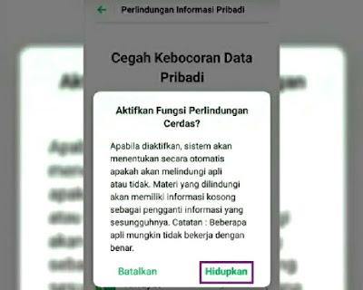 Notifikasi perlindungan cerdas
