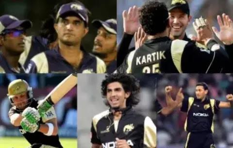 जाने कैसी थी KKR की पहली IPL की टीम  IPL 2020