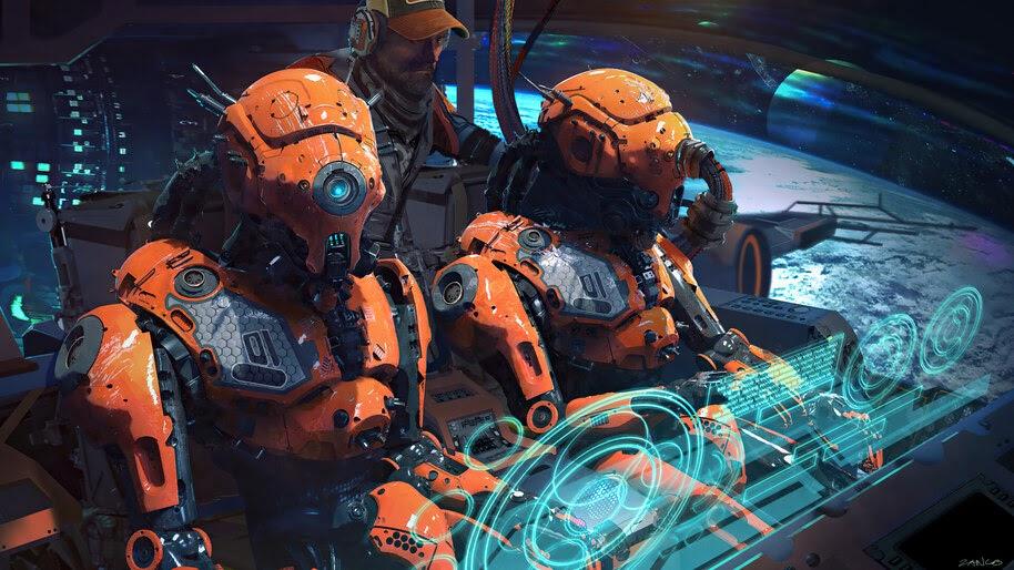 Sci-Fi, Space, Robot, Pilot, 4K, #6.2537