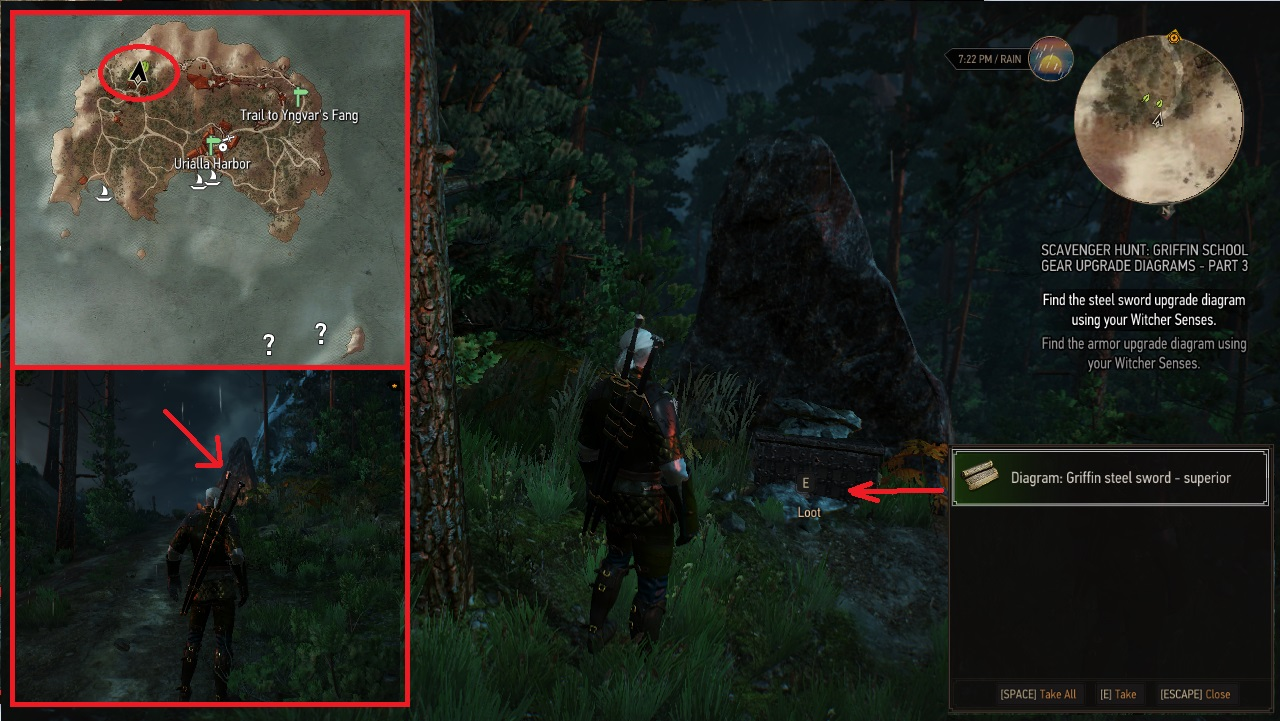 The Witcher 3 Superior Griffin Armor Set Diagram Lokasi Cara Mendapatkannya Hotgamemagazine Com