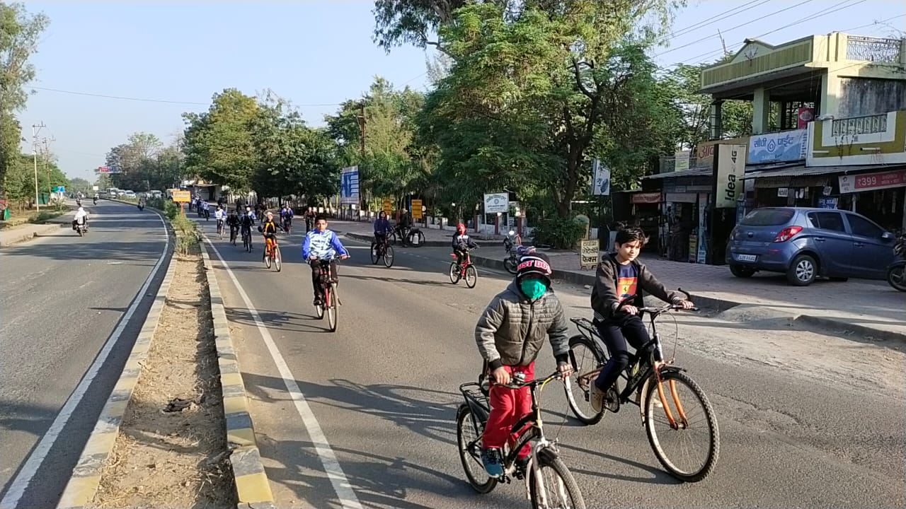 फिटनेस का डोज-आधा घंटा रोज के अन्तर्गत फिट इण्डिया सायक्लोथान का शुभारंभ