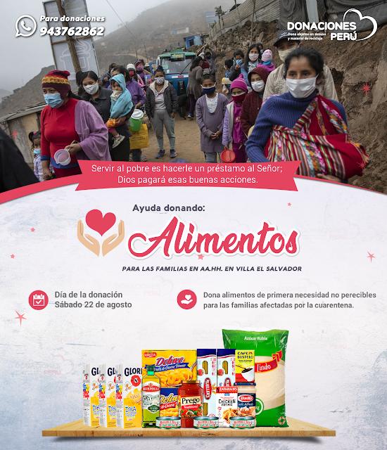 Ayuda donando alimentos