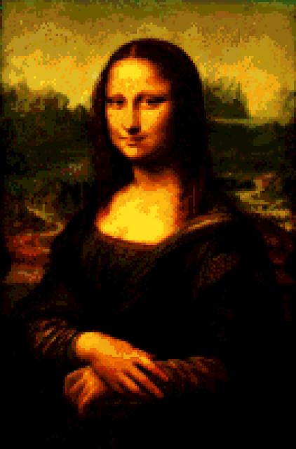 Mona Lisa recreated on a Commodore Amiga