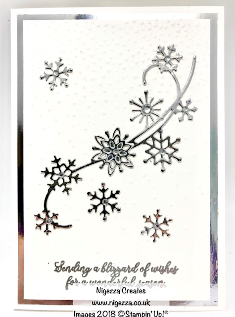 Snow is Glistening Christmas Card #3 Nigezza Creates