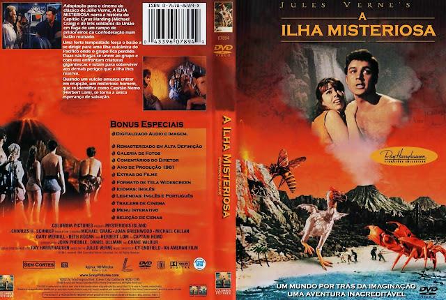 Capa DVD A Ilha Misteriosa (1961)