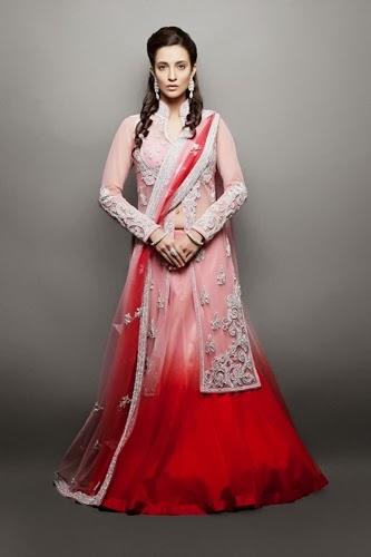 2b3878cfdbb Embroidered Open Shirt with Gharara Designs. Pakistani Bridal Dresses ...