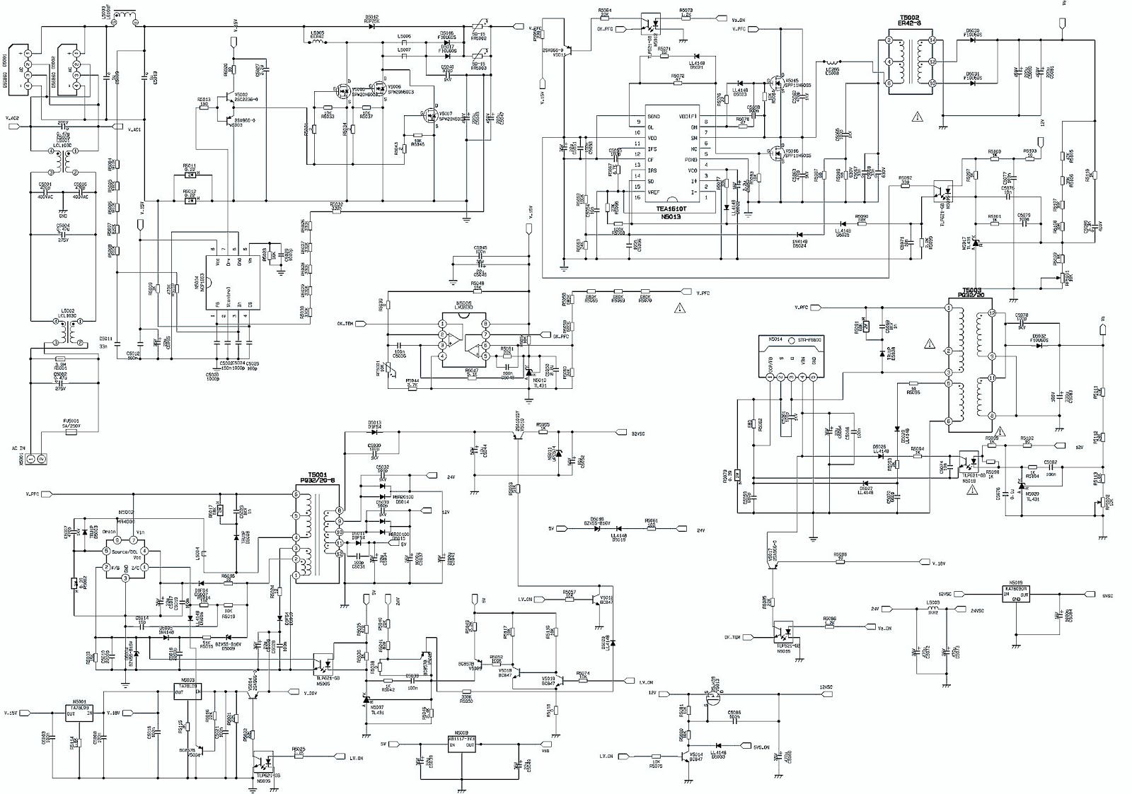 Schematic Diagrams: Samsung PPM42H3 and Xoceco 6HA0182010