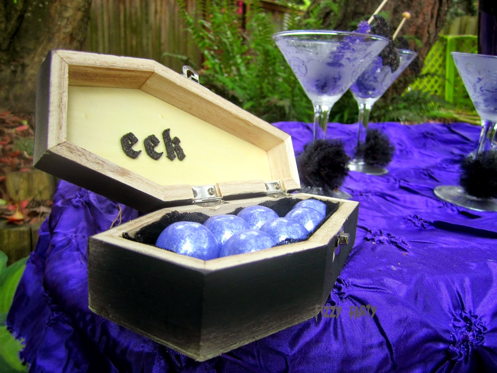Ghouls Night Out coffin party favors