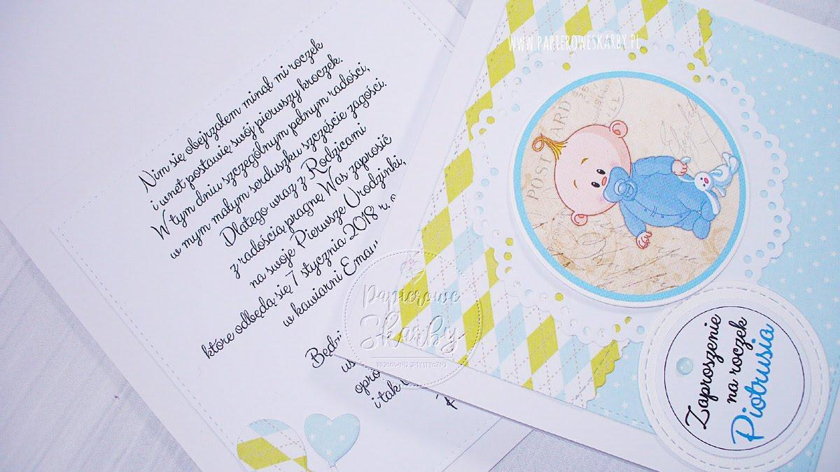 zaposzenia zaproszenie handmade roczek dziecka pierwsze urodziny zaproszenia ręcznie robione scrapbooking album