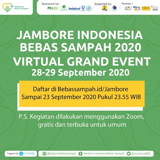 Mari Join Jambore Bebas Sampah 2020 Virtual Grand Event