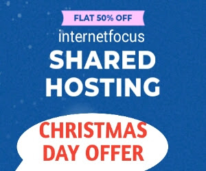 50% Off Domain Or Web Hosting Christmas Day Offer