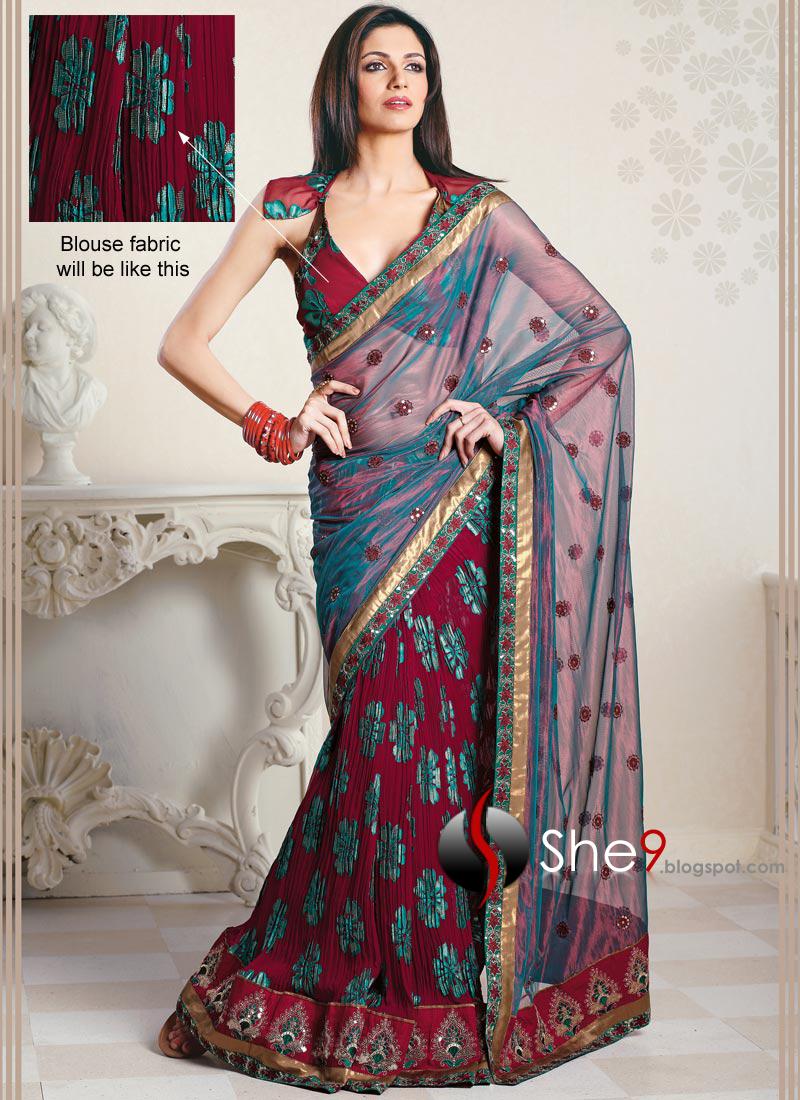 Saree World: আজকের দুনিয়া: Eye Catching Beautiful