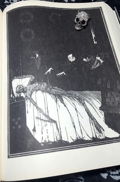 Ilustração de Harry Clarke para o conto Os Fatos do Caso do Sr. Valdemar, de Edgar Allan Poe
