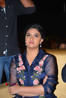 Actress Keerthi Suresh Stills in Blue Long Dress at Nenu Local Audio Launch  0015.JPG