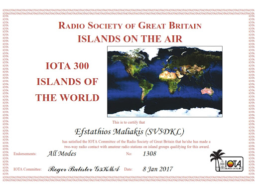 RSGB IOTA 300 Islands of the World Award