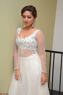 Anu Emmanuel in a Transparent White Choli Cream Ghagra Stunning Pics 089.JPG