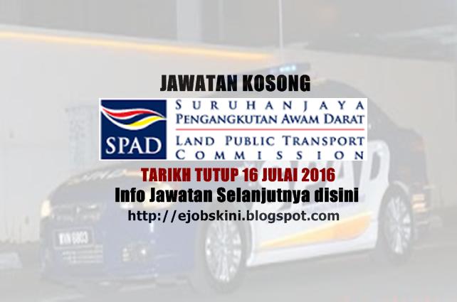 Jawatan Kosong Suruhanjaya Pengangkutan Awam Darat (SPAD)