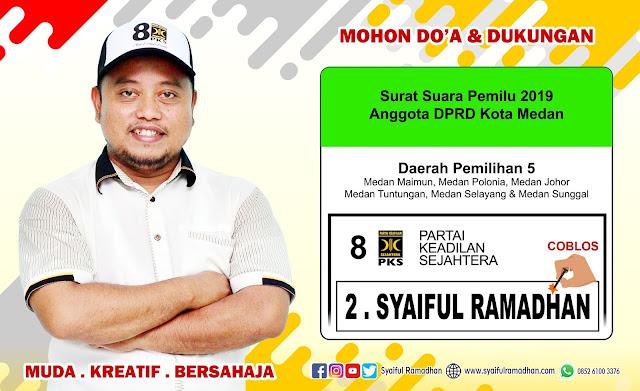 Syaiful Ramadhan, Caleg PKS untuk DPRD Kota Medan Dapil 5 Nomor Urut 2