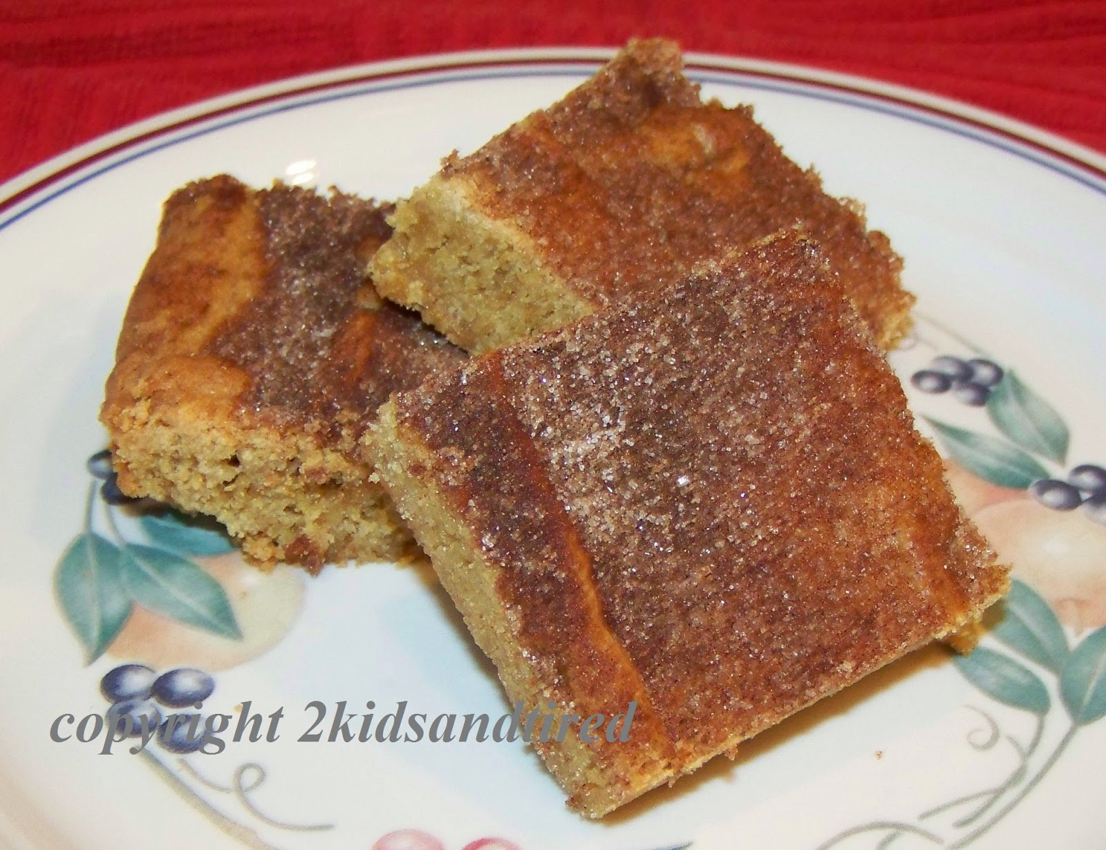2 Kids and Tired Cooks: Snickerdoodle Blondies