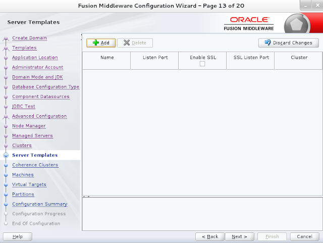 Weblogic domain creation step 13