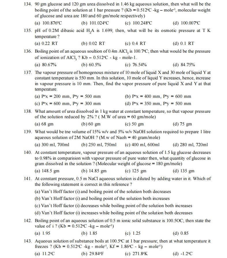 Solutions And Volumetric Analysis - CHEMISTRY | Important ...