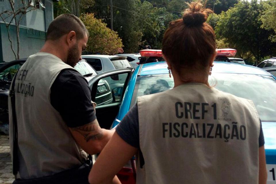 Fiscalização do CREF1 em Nova Friburgo. Foto: Divulgação
