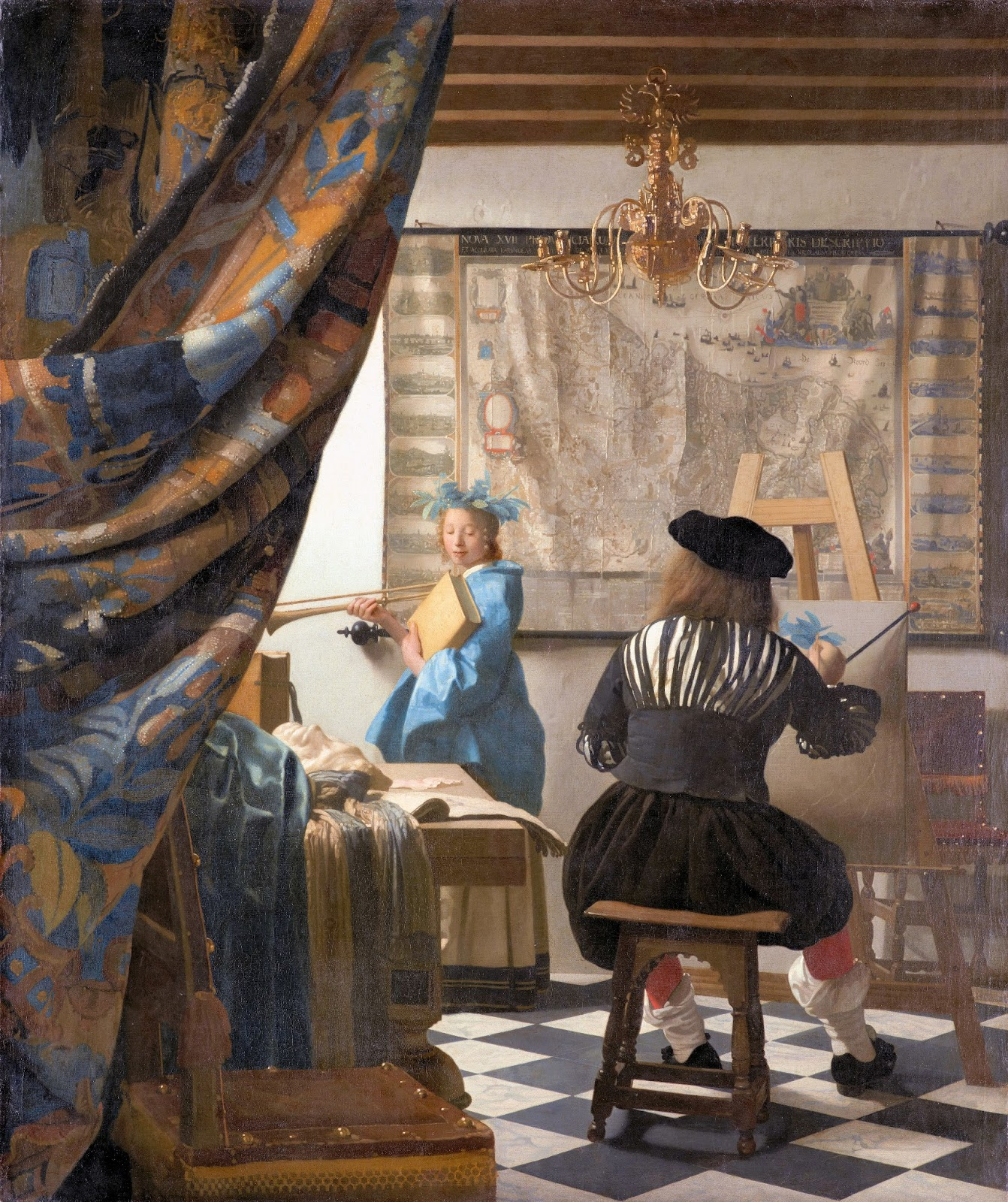 Artodysseys vermeer 39 s 39 the art of painting 39 for The art of painting